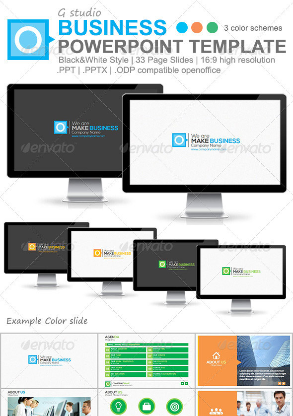 25 creatively designed powerpoint templates web graphic design gstudio business powerpoint template toneelgroepblik Choice Image