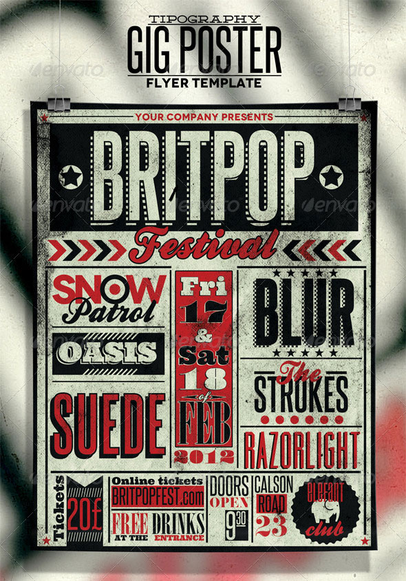 25 Retro Vintage PSD Flyer Templates