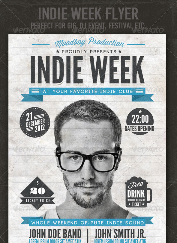 Indie Week Flyer/Poster