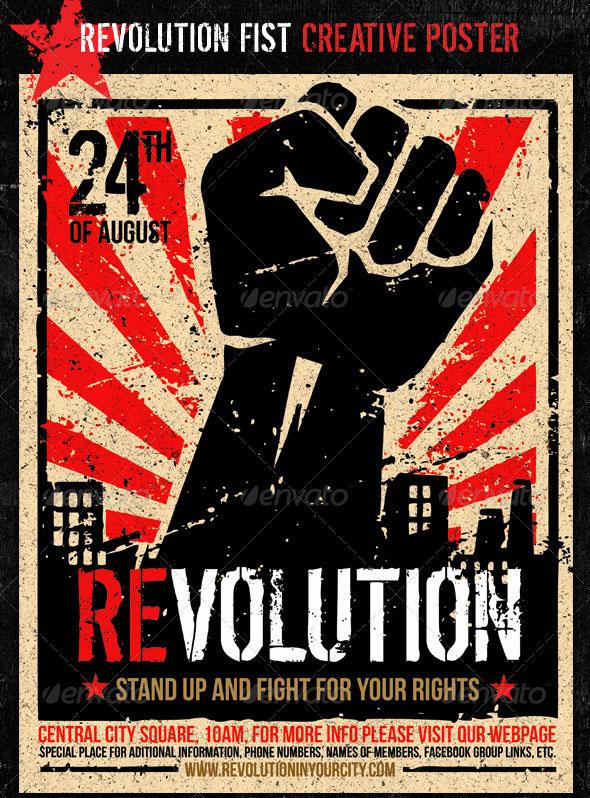 Revolution Fist Creative Poster