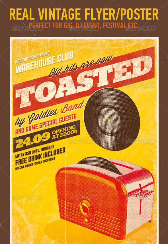 Toasted - Vintage Poster