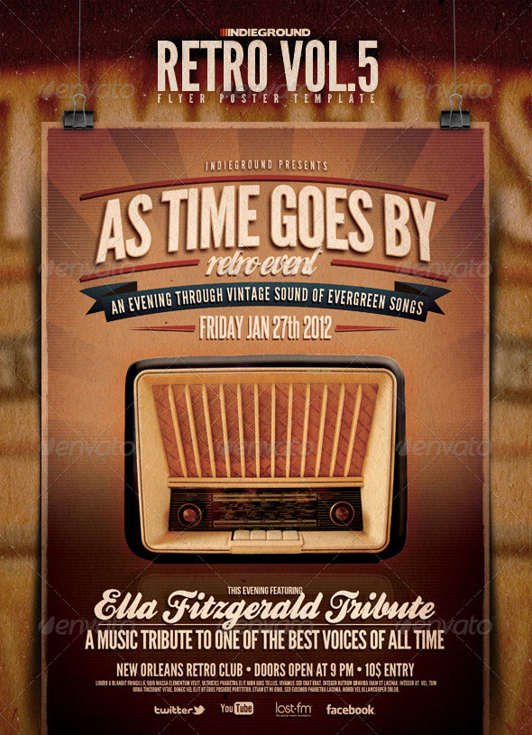 25 Retro Vintage PSD Flyer Templates – Retro Flyer Templates