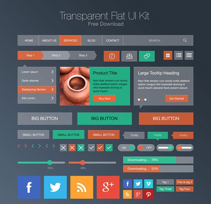UI-kit-flat