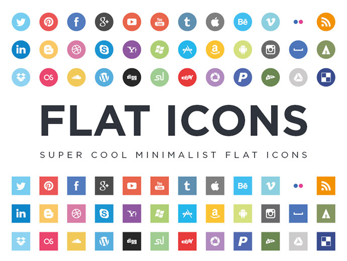 Download Free Flat Social Media Icon Sets Web Amp Graphic