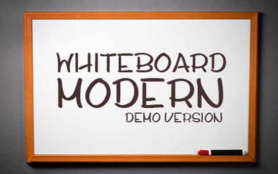 BB Free Font: Whiteboard Modern