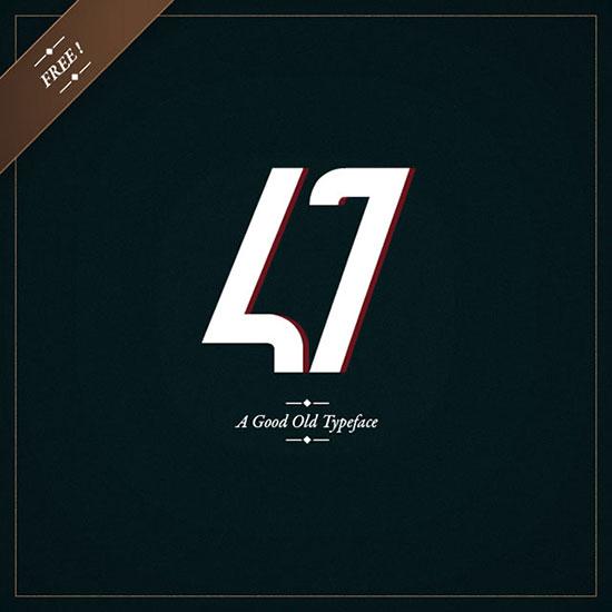 47 – Free Typeface