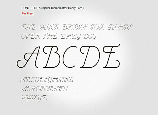 Henry- free font