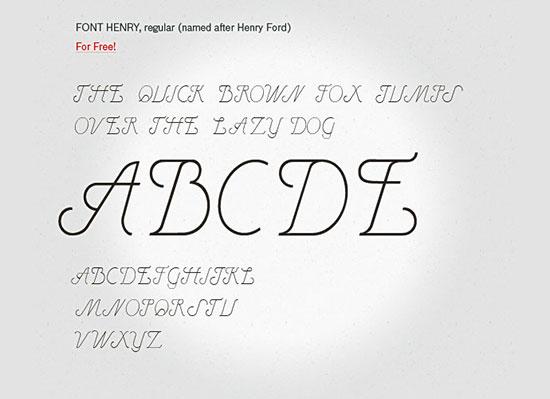 Henry- free font