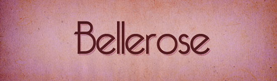 retrofonts bellerose
