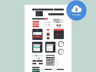 Freebie: UI Kit PSD
