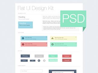 Flat UI Kit - Freebie PSD