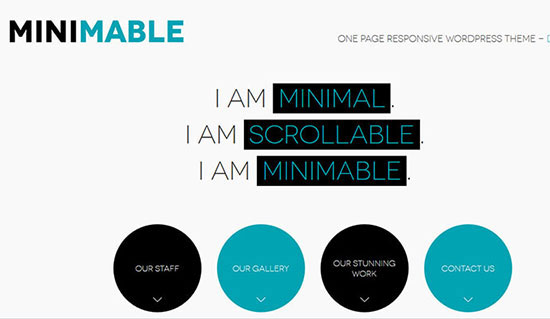 minimable – Free One Page Responsive WordPress Theme