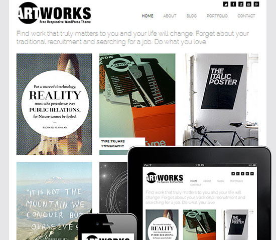 Art Works Responsive Theme (FREE 2013)