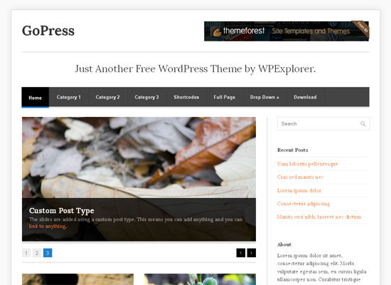 GoPress Free WordPress Theme