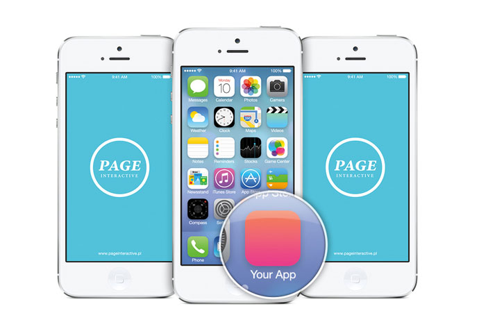 15 free psd templates for your next ios 7 app web for Ios splash screen template psd