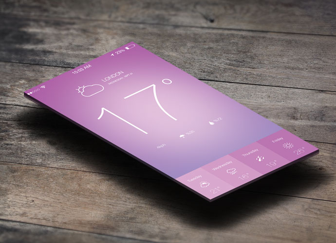 iOS 7 Weather App Design