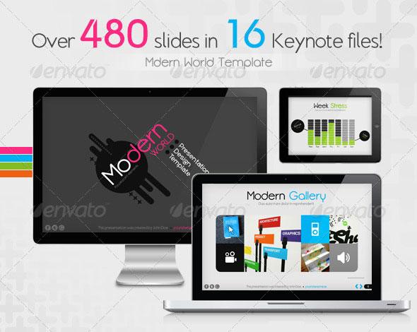 Modern World Presentation Template for Keynote