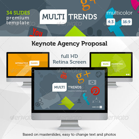 Multi Trends Keynote Presentation Template