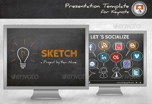 30 beautifully designed keynote themes web graphic design sketch keynote template toneelgroepblik Gallery