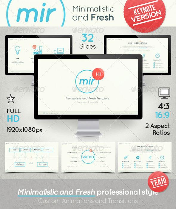 Mir- Minimalistic and Fresh Keynote Template