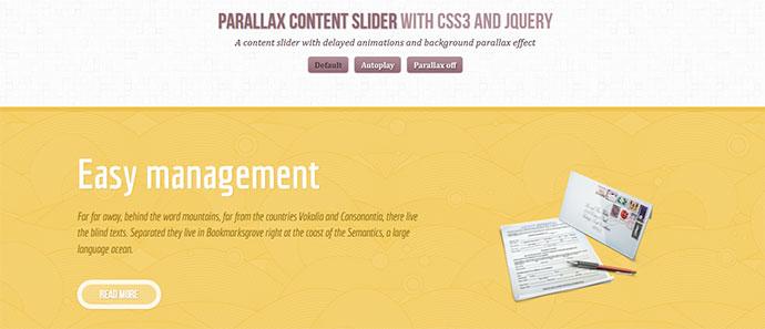 Parallax Content Slider