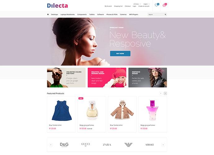 Dilecta Modern Prestahop Theme