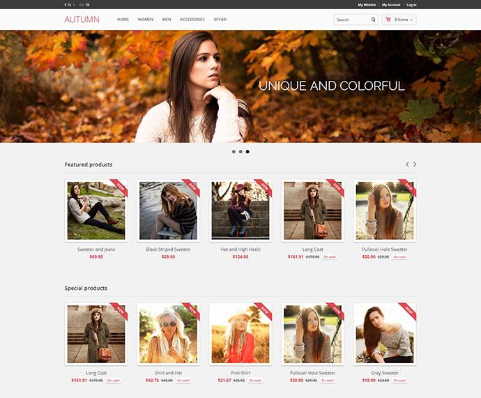 Autumn Modern Responsive Prestashop Theme