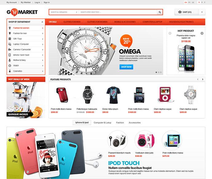 Responsive Supermarket PrestaShop Theme – GoMarket