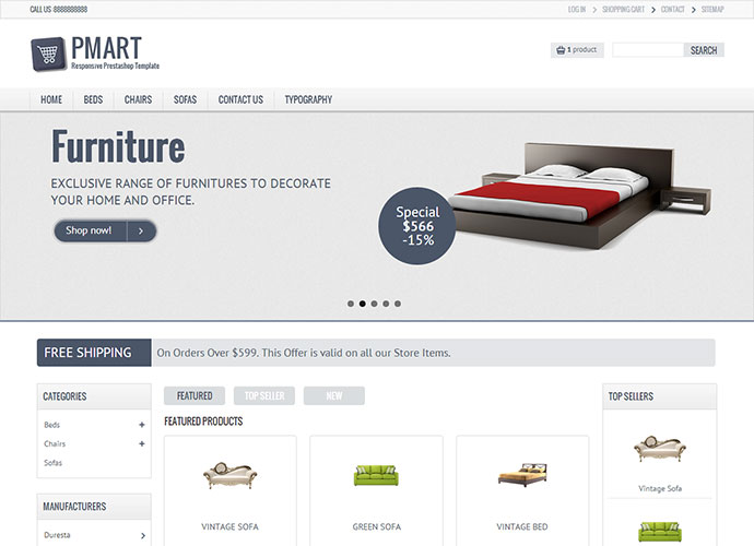 Pmart – Responsive and Clean Ecommerce theme