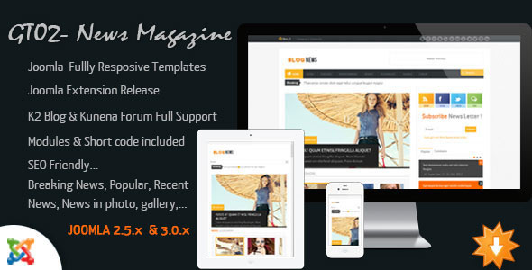 Download JF Chrome v20 Themeforest Joomla Kunena