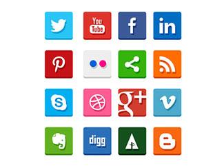 Simple Flat Social Med...