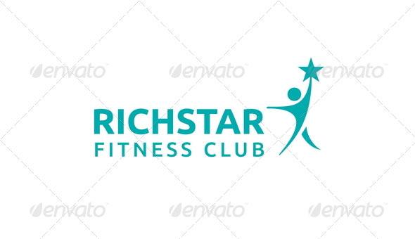 Richstar Fitness Club Logo Template