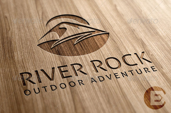 River Rock Outdoor Pursuits Logo Template