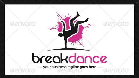 Breakdance Club Logo Template