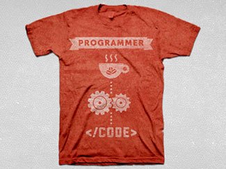 Programmer Tee (red)