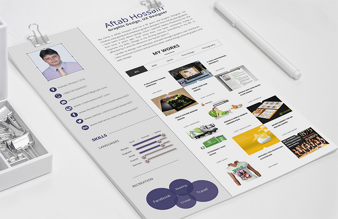 free 2 page resume template - Resume Templates Graphic Design Free