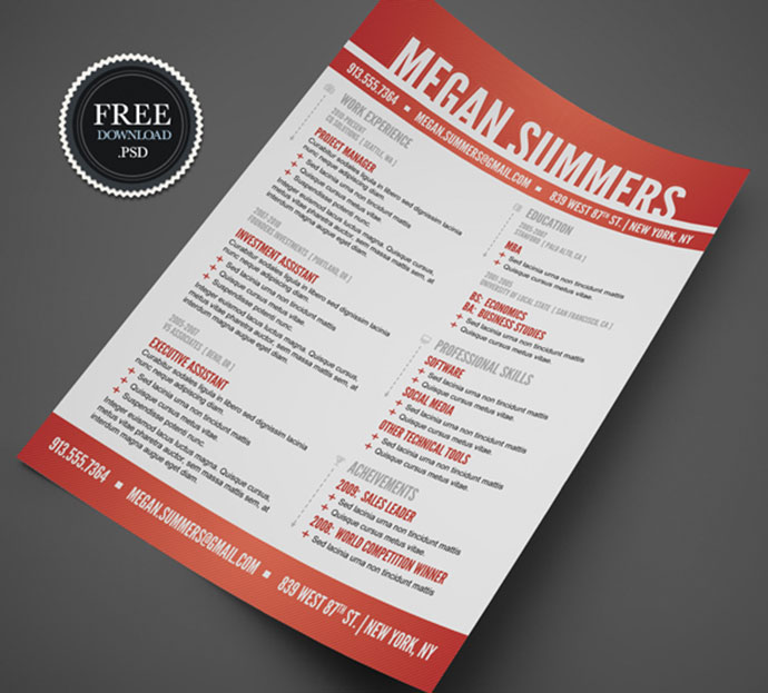 resume_free_20 - Free Downloadable Resume Templates For Word