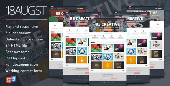 70 flat responsive html website templates web graphic design