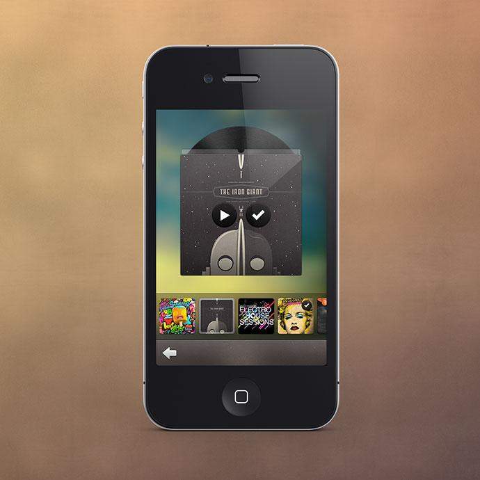 Music Track Selector UI