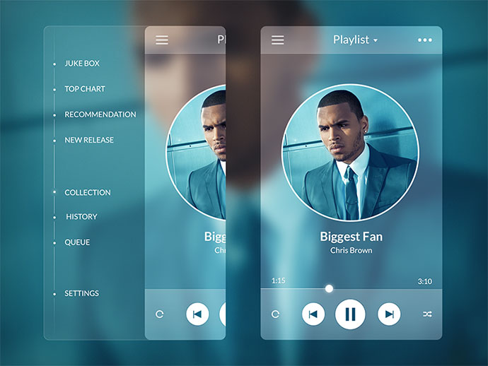 Music Player - Side Menu