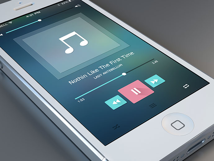 Music Player Free PSD