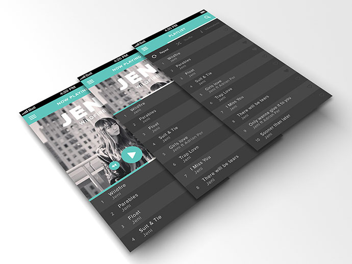 41 Music App UI Design Concepts For IOS