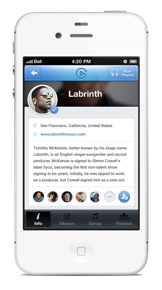 Artist Profile iOS