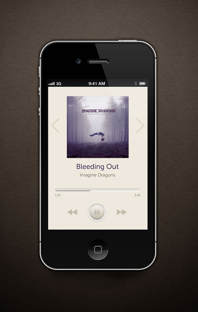 music player for iphone 41 app ui design concepts for ios web amp graphic 15724