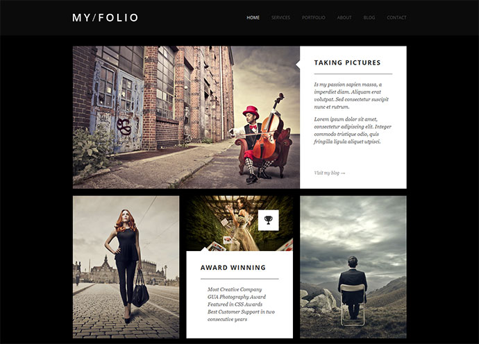 Stunning HTML Website Templates For Photographers Web Graphic - Free html photography website templates