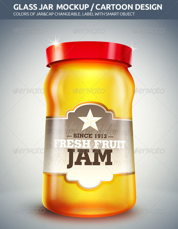 Glass Jar Mockup / Cartoon Design