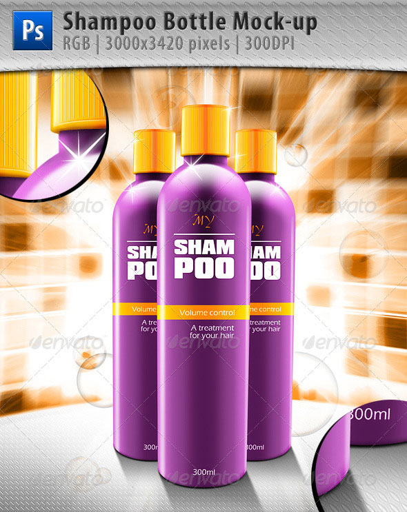 Shampoo Bottle Mock-up
