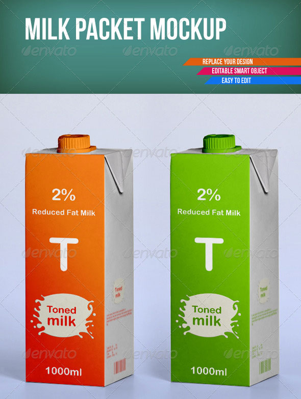 Milk Packet Mockup