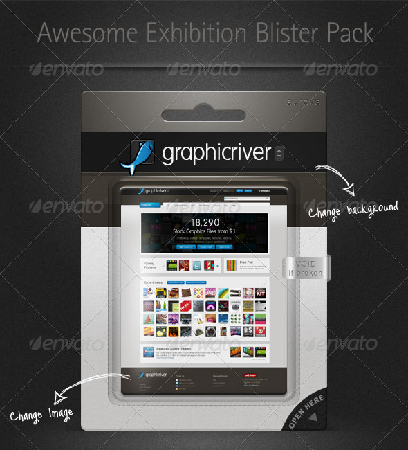 Exhibition Blister Pack Mock-up