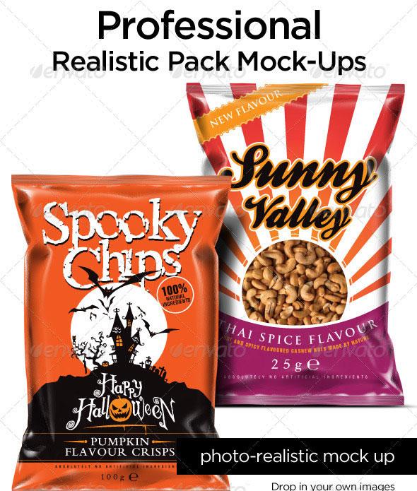 Realistic Pack Mock Ups
